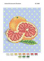 """Схема для частичной вышивки бисером """"Грейпфрут"""""""