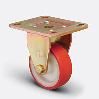 Неповоротное колесо 100 мм с полиуретановым контактным слоем и с шариковым подшипником нагрузка 200 кг