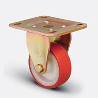 Неповоротное колесо 200 мм с полиуретановым контактным слоем и с шариковым подшипником нагрузка 600 кг