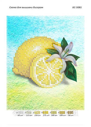 """Схема для частичной вышивки бисером """"Лимон"""""""