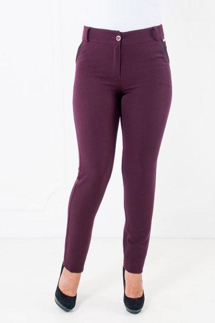 Классические женские брюки в деловом стиле бордо 44-52