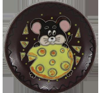 """Блюдце п/ч  """"Мышка с сыром"""""""