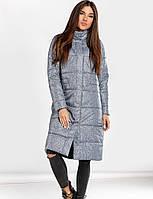 Зимнее длинное пальто S M L