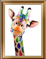 "Набор алмазной мозаики ""Яркий жираф"", фото 1"