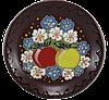 """Блюдце декор """"Яблоки в цветах"""""""