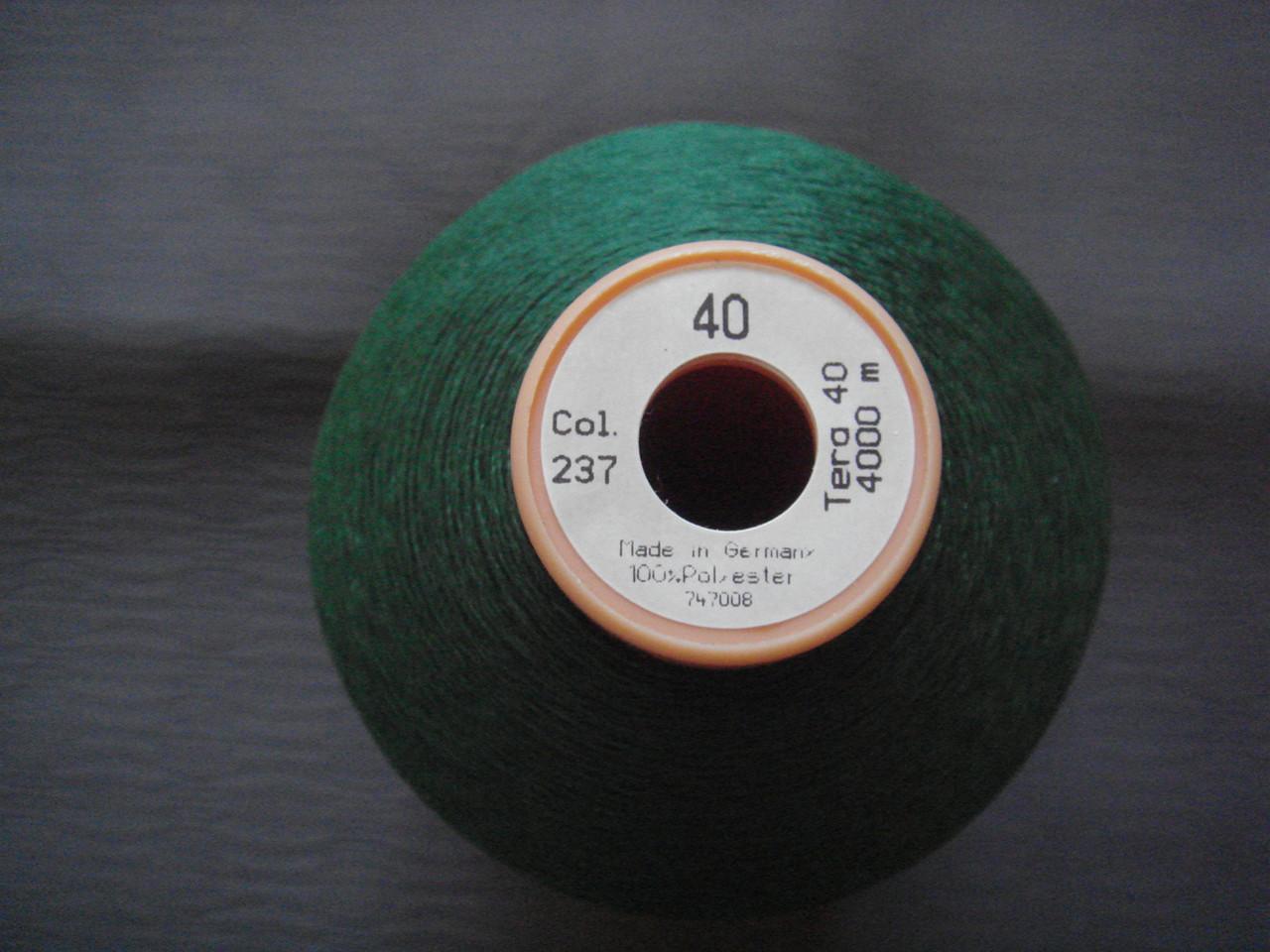 Gutermann Tera №40. цвет 237 ( ЗЕЛЁНЫЙ ). 4000 м