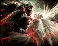 """Картины по номерам """"Ангел и Демон"""" [40х50см, С Коробкой]"""