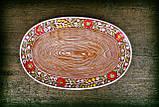 Блюдо овальне Вінок коричневе, фото 2