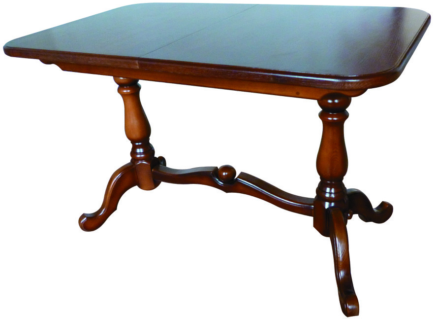 Стол раскладной Дуэт темный орех 120 обеденный деревянный