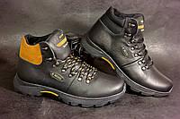Мужские высокие кожаные зимние ботинки Ecco. Прошиты проклеены,