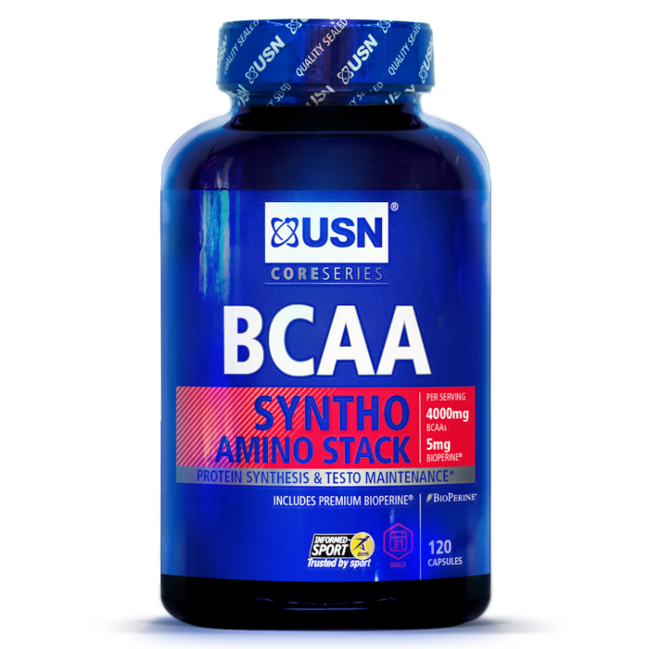 USN BCAA Syntho Stack 120 caps, ЮСН БЦА Синто Стак 120 капс