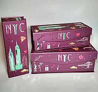 Подарочные коробки на магнитах Нью Йорк, набор, 3 шт, фото 1