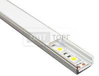 Алюминиевый профиль для светодиодных лент Biom Профиль алюм. LED BIOM ЛП7 6*15,5 анод. (палка2м)