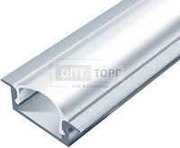 Алюминиевый профиль для светодиодных лент Biom Профиль алюм. LED BIOM врезной ЛПВ7  7*16  анод. (палка2м)