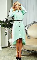 Мятное женское платье Марселла