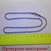 Цепь крученая 3 мм из медицинской стали с застежкой, 50 см