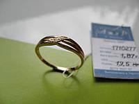 Новое золотое кольцо с фианитами 1.87 грамма 19.5 р.Золото 585 пробы
