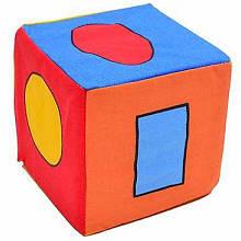 Кубик-погремушка Геометрические фигуры