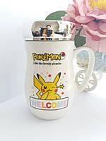 Керамическая чашка с крышкой Покемон