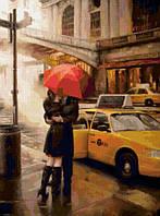 """Картины раскраски по номерам """"Под зонтом счастья"""" набор для творчества"""
