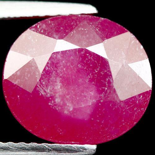 7.49 кт Природный рубин овал 9.5 X 11.0 X 7.5 мм