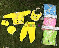 Комплект для новорожденного махровый (5 предметов) 62р, желтый, фото 1