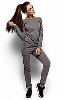 Теплий темно-сірий спортивний костюм Kirsten
