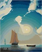 """Картины раскраски по номерам """"Лунный мираж"""" набор для творчества"""