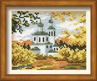 Набор для вышивания крестом Риолис 0631 Осенний пейзаж с церковью