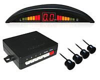 Автомобильный парктроник, Парковочный радар на 4 датчика с LED дисплеем, В наличии
