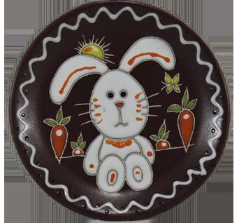 """Блюдце п/ч """"Зайчик с морковкой"""""""