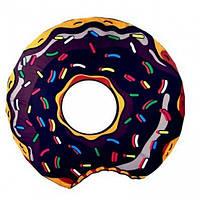 Подстилка для пляжа круглая Пончик Коврик пляжный Круглое пляжное Donut brown парео-подстилка 143 см