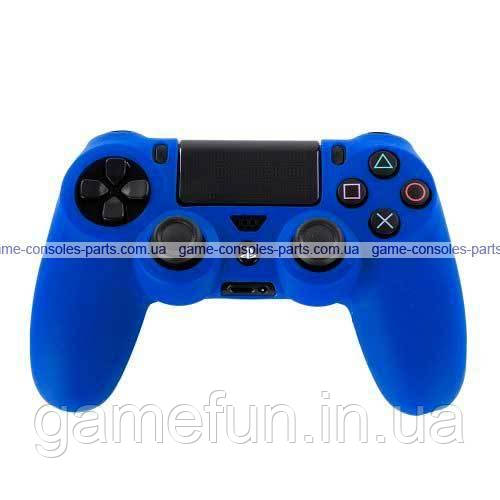 PS4 силиконовый чехол для джойстика (Синий)