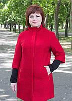 Пальто модное женское больших размеров Кристина размеров  52, 54, 56, 58 по распродаже