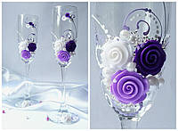 Набор свадебных бокалов для шампанского Rona Gala 200 мл х 2 шт (1103)