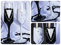 Набор свадебных бокалов для шампанского Rona Gala 200 мл х 2 шт (1405)