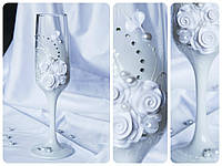 Набор свадебных бокалов для шампанского Rona Gala 200 мл х 2 шт (1402)