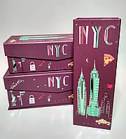 Подарочная коробка на магните Нью Йорк, 26х9,3 х7,2 см, фото 1