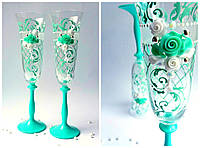 Набор свадебных бокалов для шампанского Bohemia Angela 190 мл х 2 шт (566)