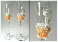 Набор свадебных бокалов для шампанского Rona Gala 200 мл х 2 шт (1217)