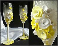 Набор свадебных бокалов для шампанского Rona Gala 200 мл х 2 шт (1703)