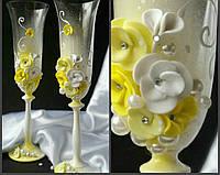 Набор свадебных бокалов для шампанского Bohemia Angela 190 мл х 2 шт (703)