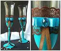 Набор свадебных бокалов для шампанского Bohemia Angela 190 мл х 2 шт (301)