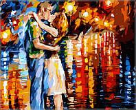 """Картины раскраски по номерам """"Прощальный поцелуй"""" набор для творчества"""
