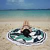 Пляжный коврик Мандала. Пальмовые листья зеленый