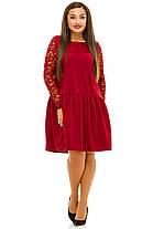 Ж5036 Платье со вставками гипюра 50,52,54,56, фото 3