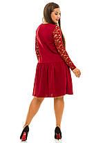 Ж5036 Платье со вставками гипюра 50,52,54,56, фото 2