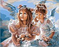 """Картины раскраски по номерам """"Ангелочки"""" набор для творчества"""