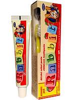Детская зубная паста Rabbit со вкусом клубники (45 мл) + детская зубная щетка