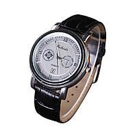 Мужские наручные часы Faleidu Черные с серебряным циферблатом